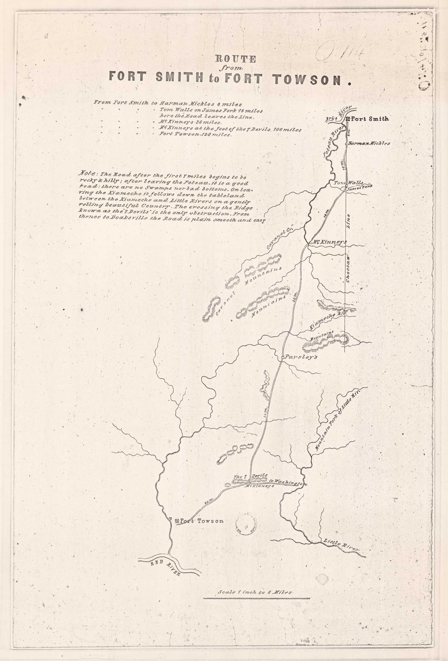 Oklahoma Civil War Sesquicentennial Route From Ft Smith To Ft
