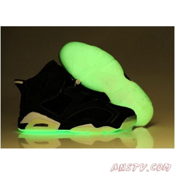 check out f7eba f7d22 2014 New Air Jordan Femme Nike Air Jordan 6 Femmes Luminous Noir Chaussures