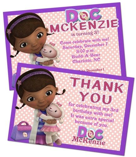 Doc mcstuffins birthday party invitation and thank you note combo 9 doc mcstuffins birthday party invitation and thank you note combo 9 docmcstuffins birthday filmwisefo Images