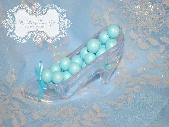 Cinderellas Slipper Party Favor Fillable Princess Bridal Shower Fairytale Wedding