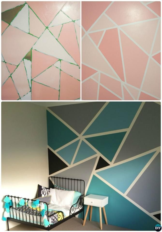 12 diy patterned wall painting ideas and techniques wall paintings mosaic wall and diy wall - Design painting of wall ...