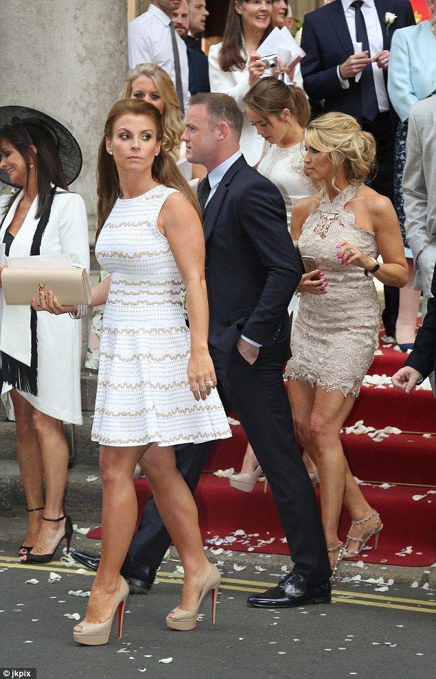 Coleen Rooney Cuts A Ladylike Figure At Georgina Dorsett S Wedding