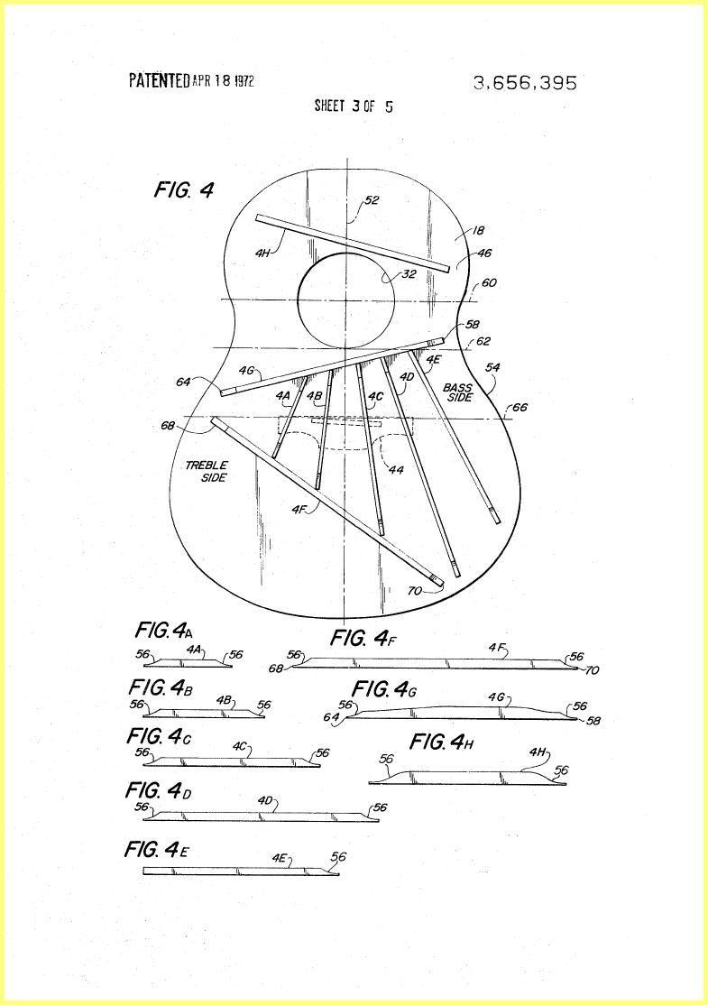 Ovation Guitar Construction 1970 Patent | CONSTRUCCION GUITARRA ...