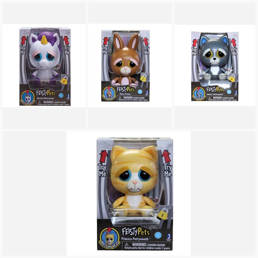 Feisty Pets Feature 4 Inch Figure Choose Your Favorite Starwars Avengers Funko Marvel Hasbro Toys Toy Transformers Toysh Feisty Pets Animal Figures
