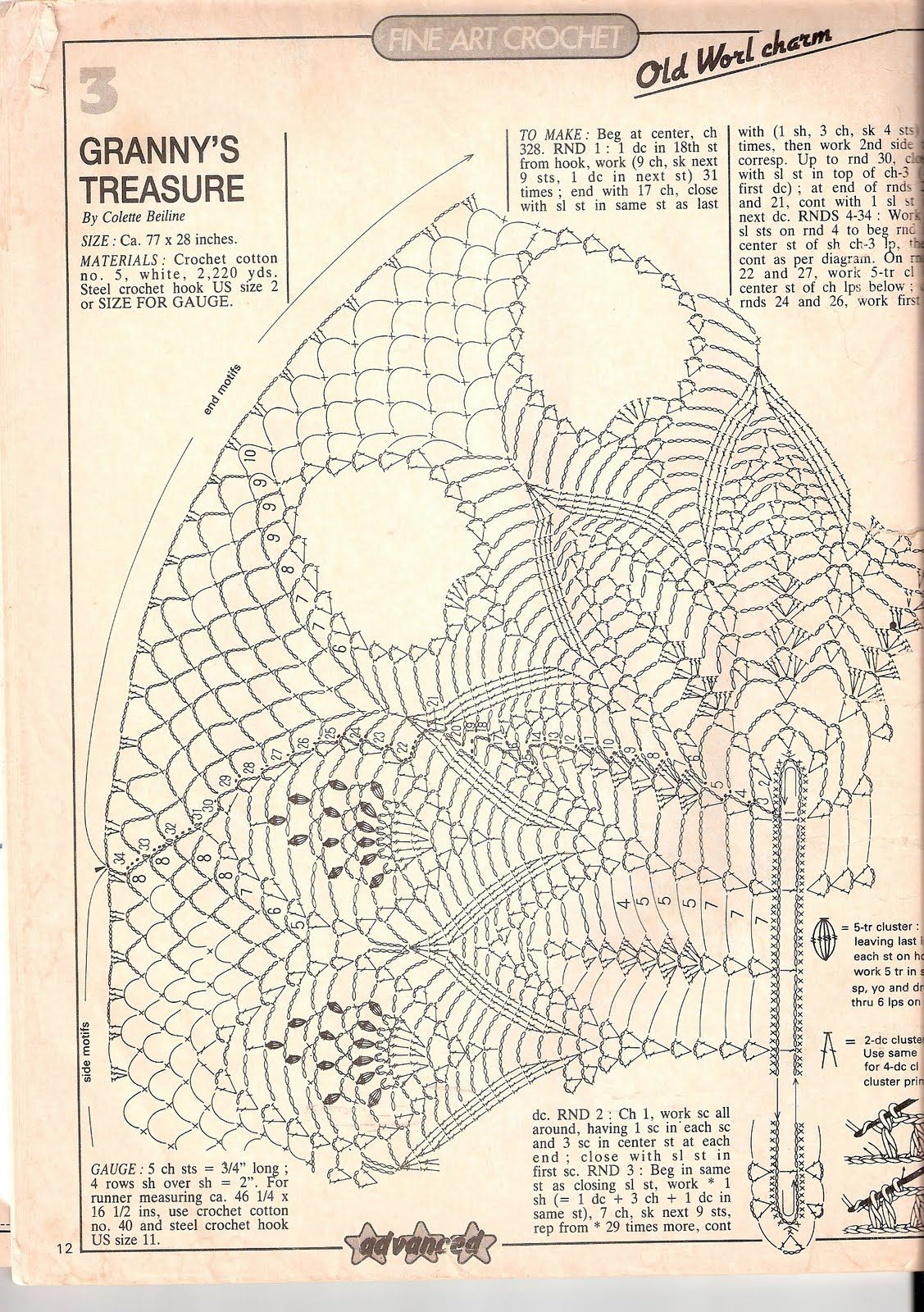 Scan0003 11271600 Crochet Pinterest And Oval Doily Diagram