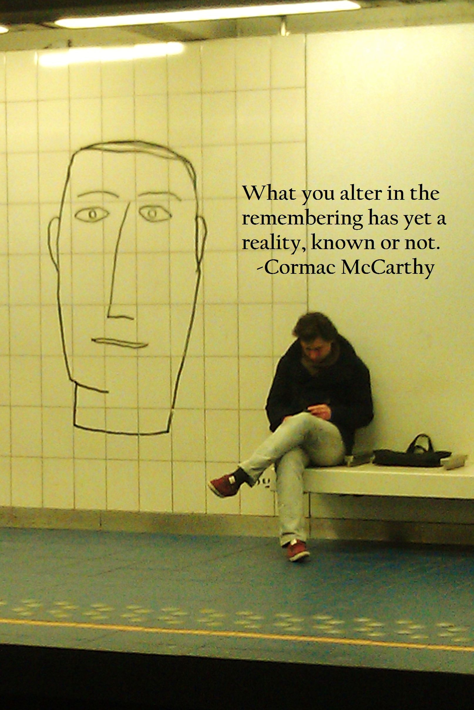 borrowed time and borrowed world cormac mccarthy the road a picture i took in brussels my favorite quote from the road by cormac mccarthy mccarhy s bday