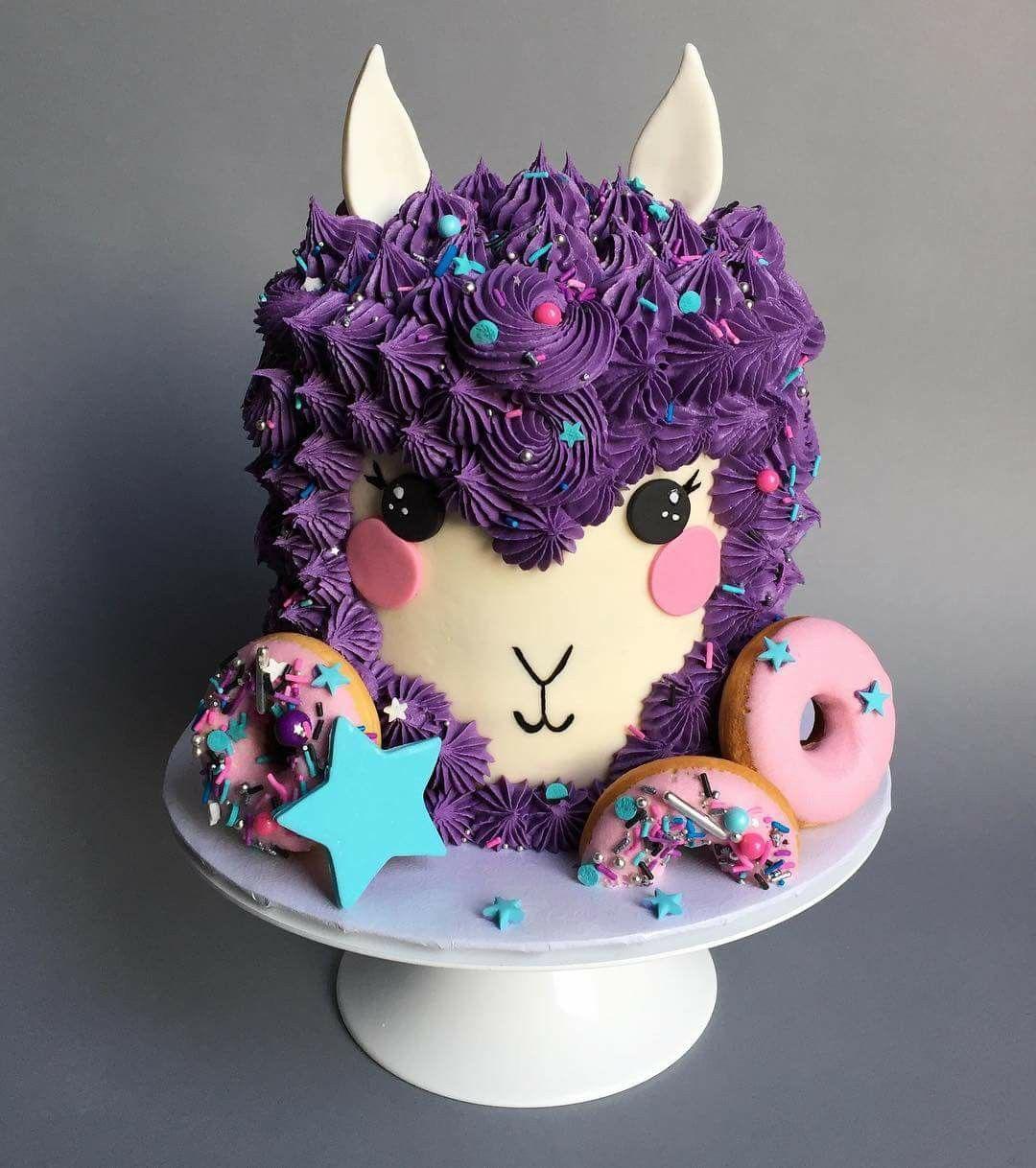 Llama Cake Instead Of Unicorn Cake 12 Cupcakes Sweets