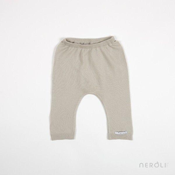 Pantalón largo de punto color piedra (bebé y unisex) de Mon Marcel. #babe #boy #girl #trousers #fashion #NeroliByNagore #SS14 #MonMarcel