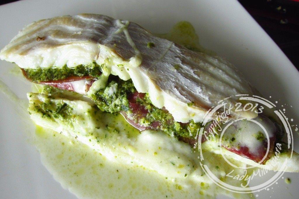 Filets de cabillaud à l'italienne : coppa et mozzarella