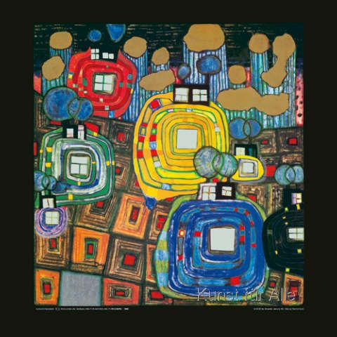 Friedensreich Hundertwasser   Pavillions And Bungalows For Natives And
