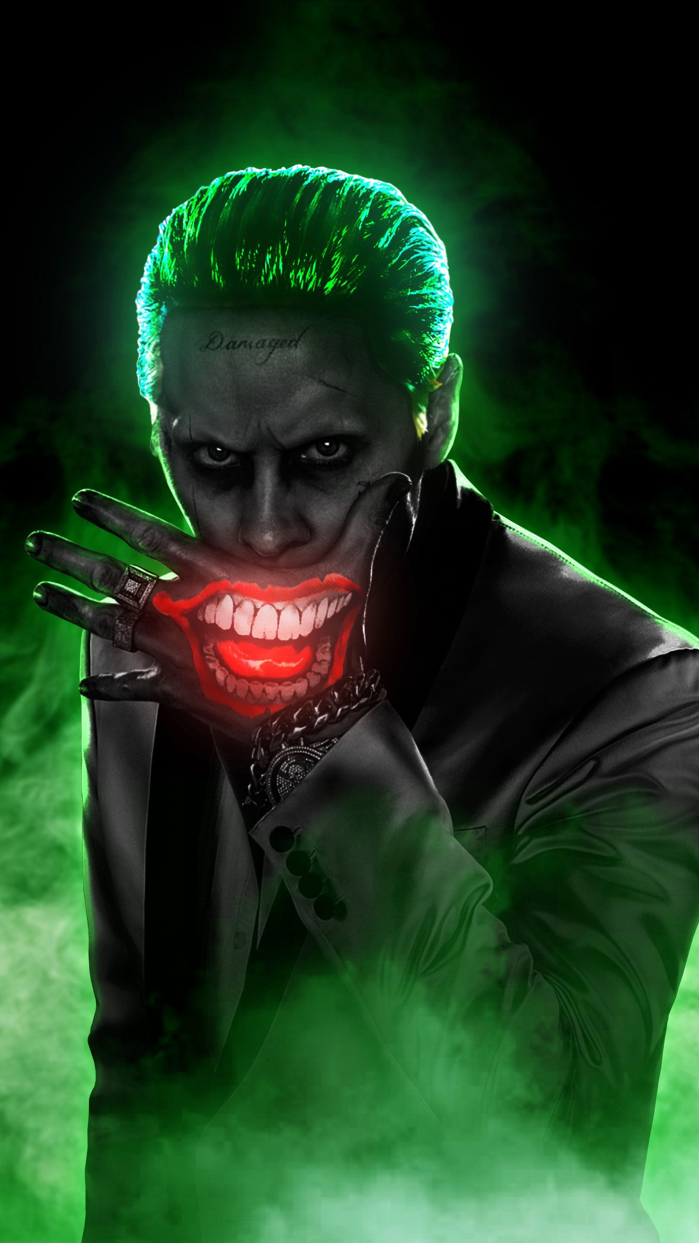 Jared Leto Joker 4k Hd Wallpaper 1440x2560 Dengan Gambar