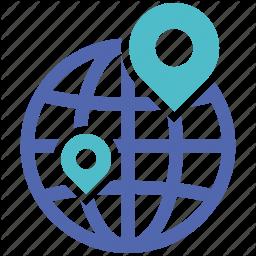 Location Online Social Market Web Web Page Icon Web Page Icon Icon Vector Icons