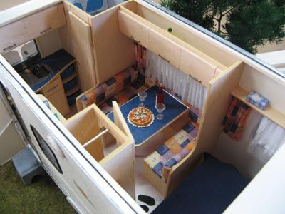 tiny caravan plan miniature campers pinterest. Black Bedroom Furniture Sets. Home Design Ideas