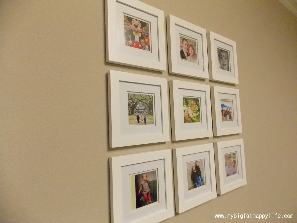 Arranging photos on a wall - Arranging Multiple Picture Frames On The Wall Mybigfathappylife Com