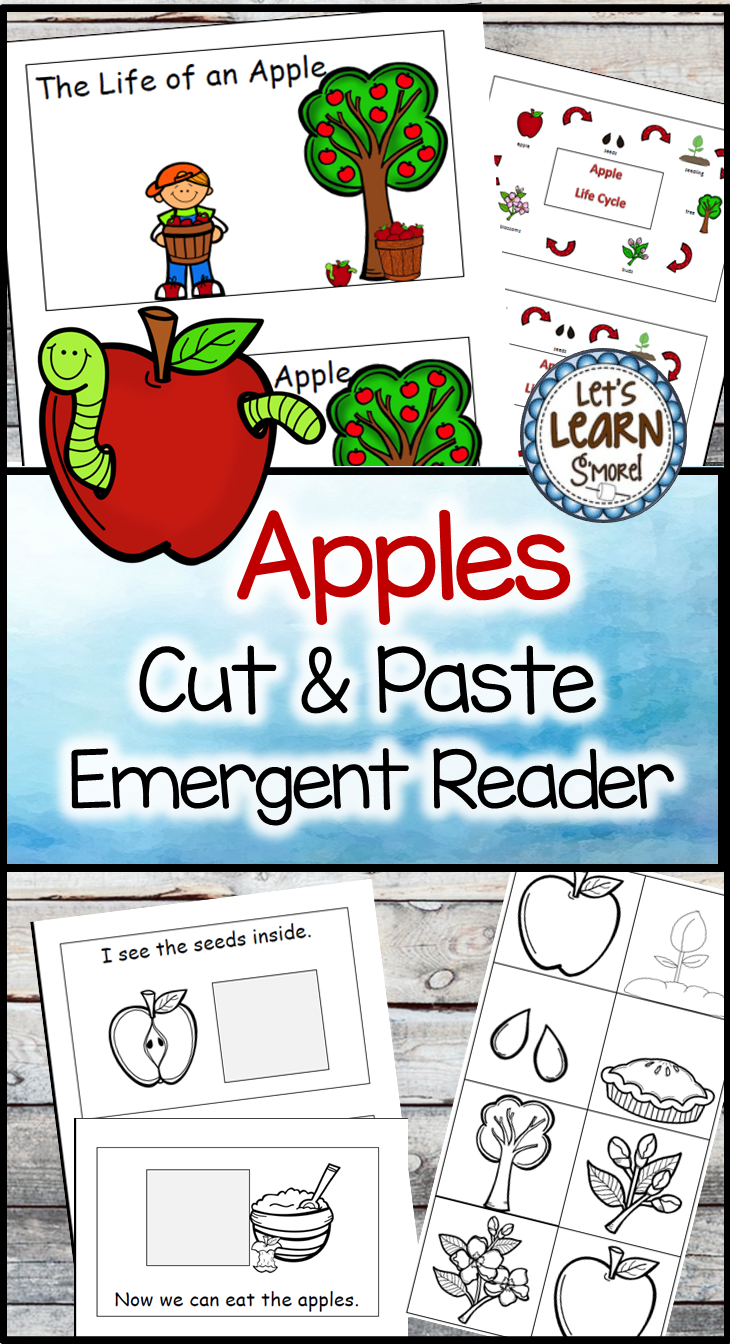 Apple Life Cycle Emergent Reader Apple Activities Fall Activities