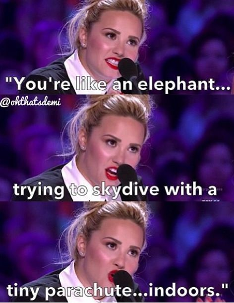 Demi Trying To Sound Like Simon I Laughed Soooooo Hard When She Did This Me And My Sister Still Quote It Like Every Demi Lovato Quotes Demi Lovato Lovato