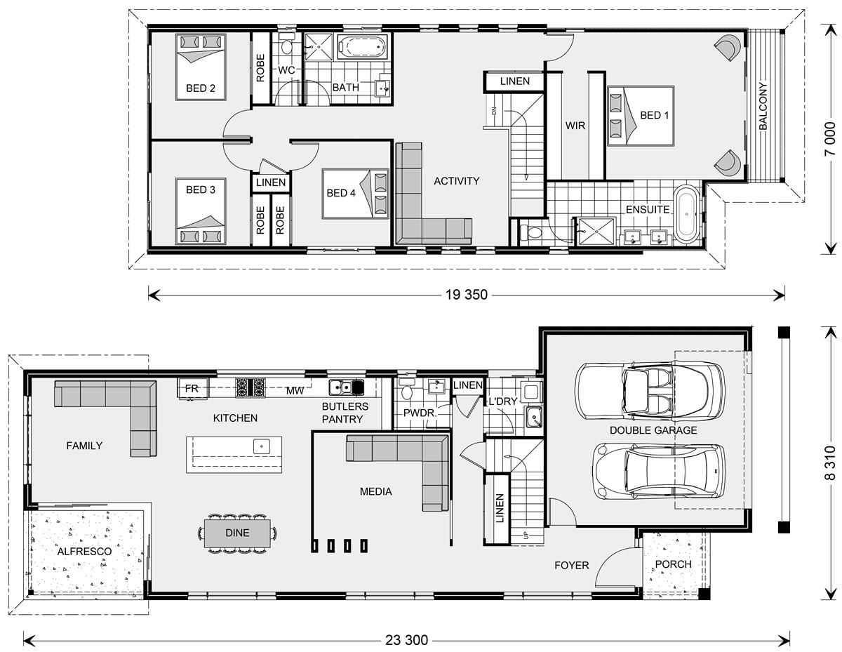 Pin By Yamelis On House Plans Narrow House Plans 4 Bedroom House Plans House Design