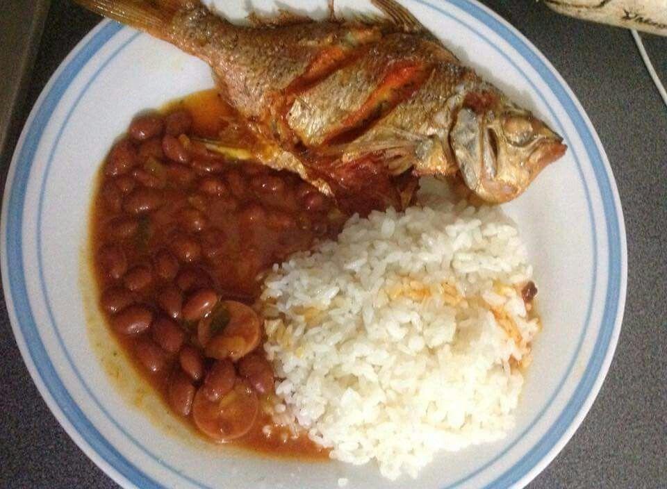 Arroz blanco con habichuelas y pescado comidas sabrosas - Comidas con arroz blanco ...