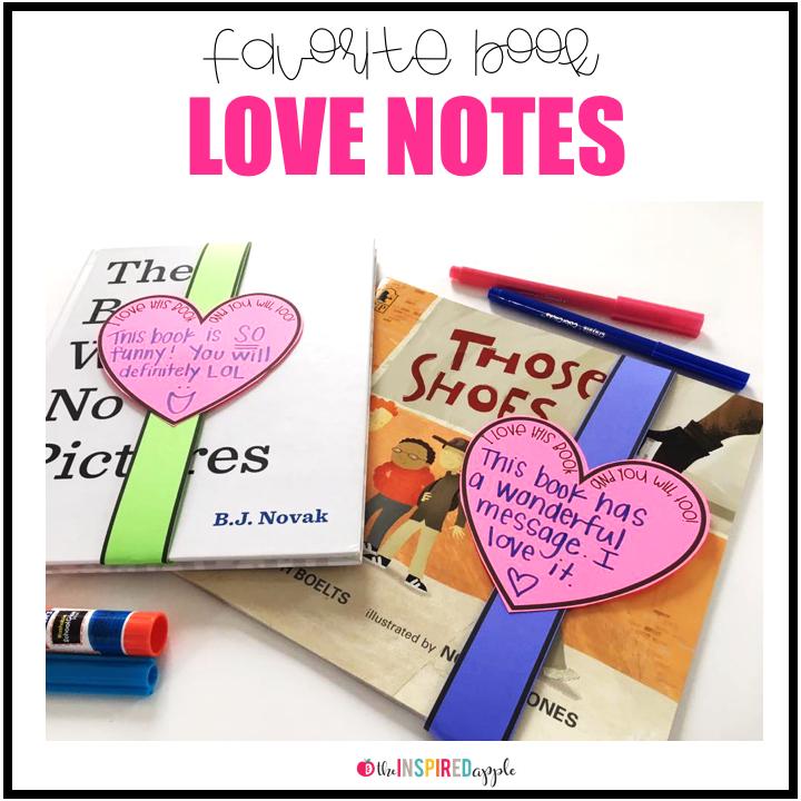 Book Report Alternative Favorite Book Love Notes  Teacher