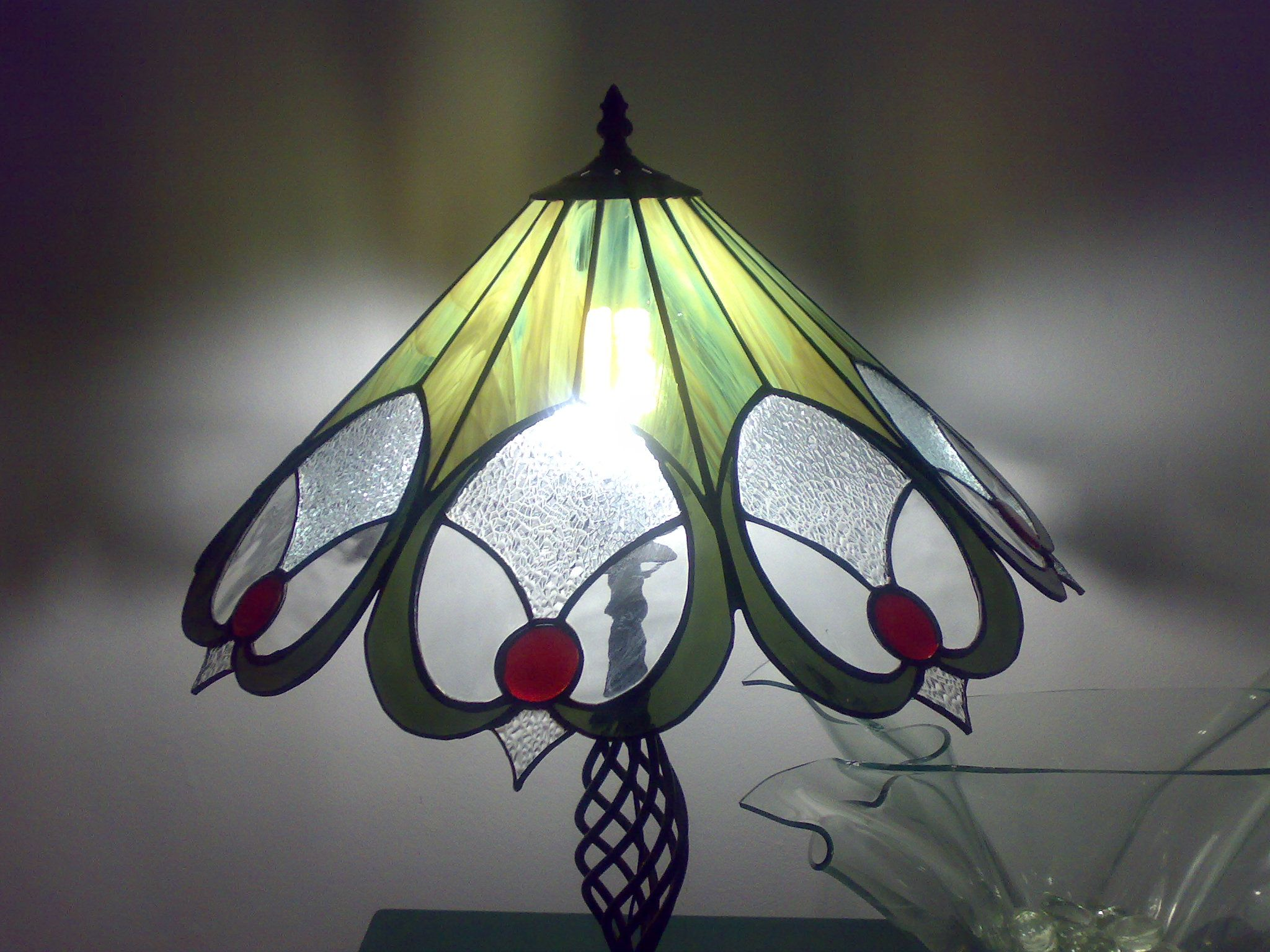 Shara S Lamp Stained Glass Candles Stained Glass Light Window