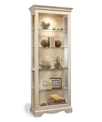 Ambience 2 Way Sliding Door Display Cabinet In Shell White Philip