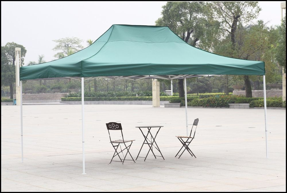Outdoor Canopy Shelter Gazebo 10x15 Green Patio Backyard Shade