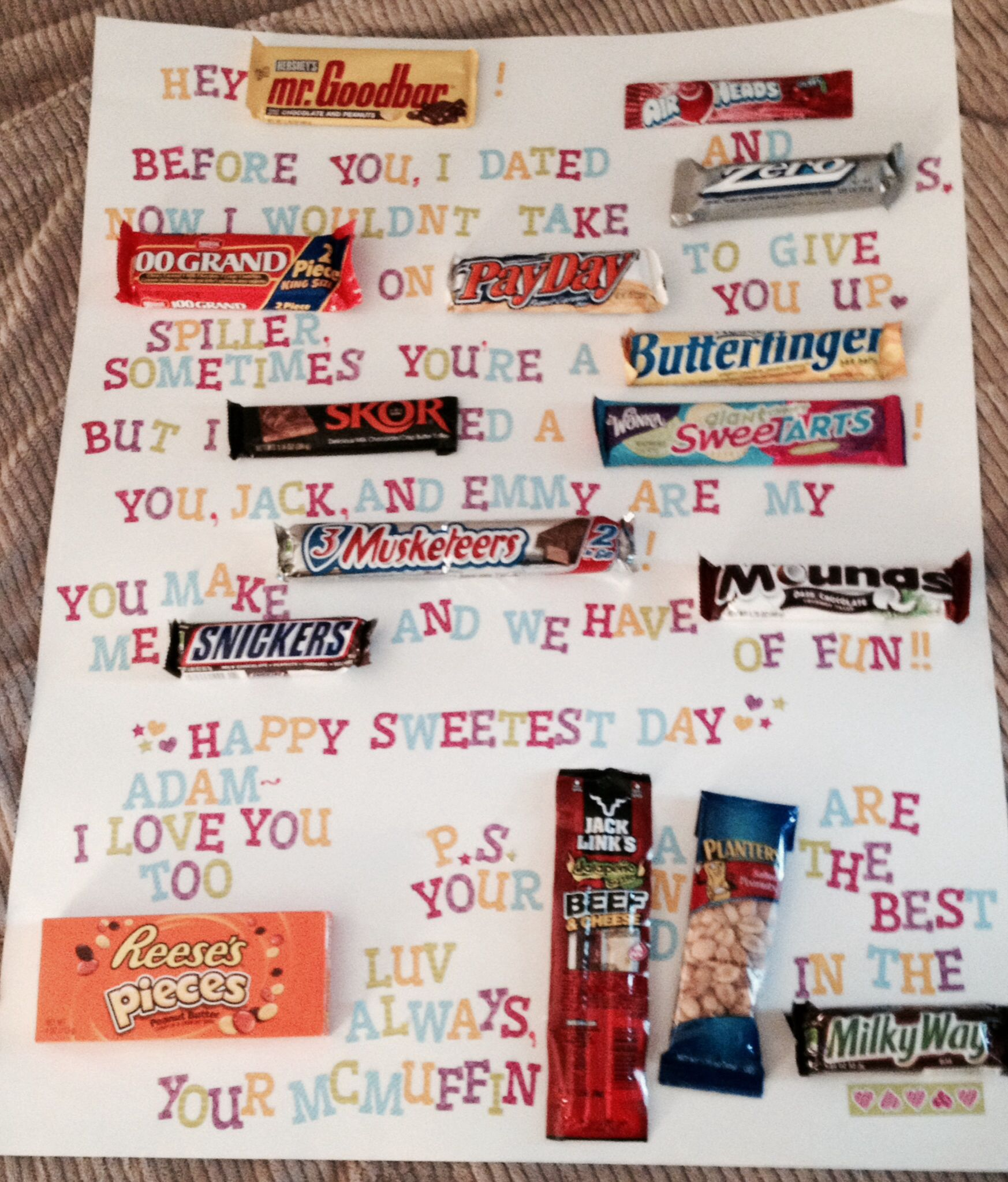 Pin by Ashley Falco on candy gram | Pinterest