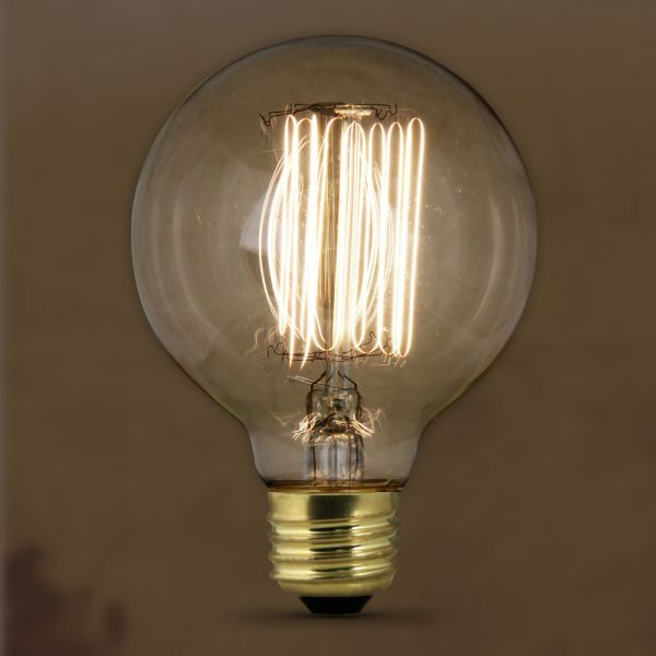 Vintage Style Antique Edison 60w Watt 120v Volt Clear Globe Bulb Lamp With E26 Medium Screw Base Average Bulb Antique Light Bulbs Bulb Incandescent Bulbs