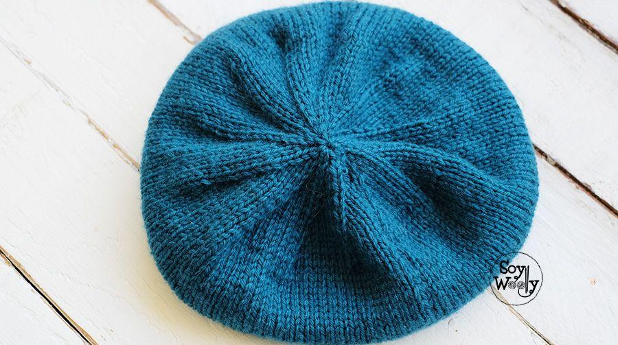 Patrón para tejer un gorro hipster-slouchy en dos agujas | Pinterest ...