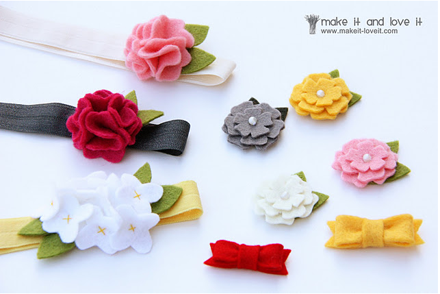 DIY felt baby hair accessories - www.makeit-loveit.com