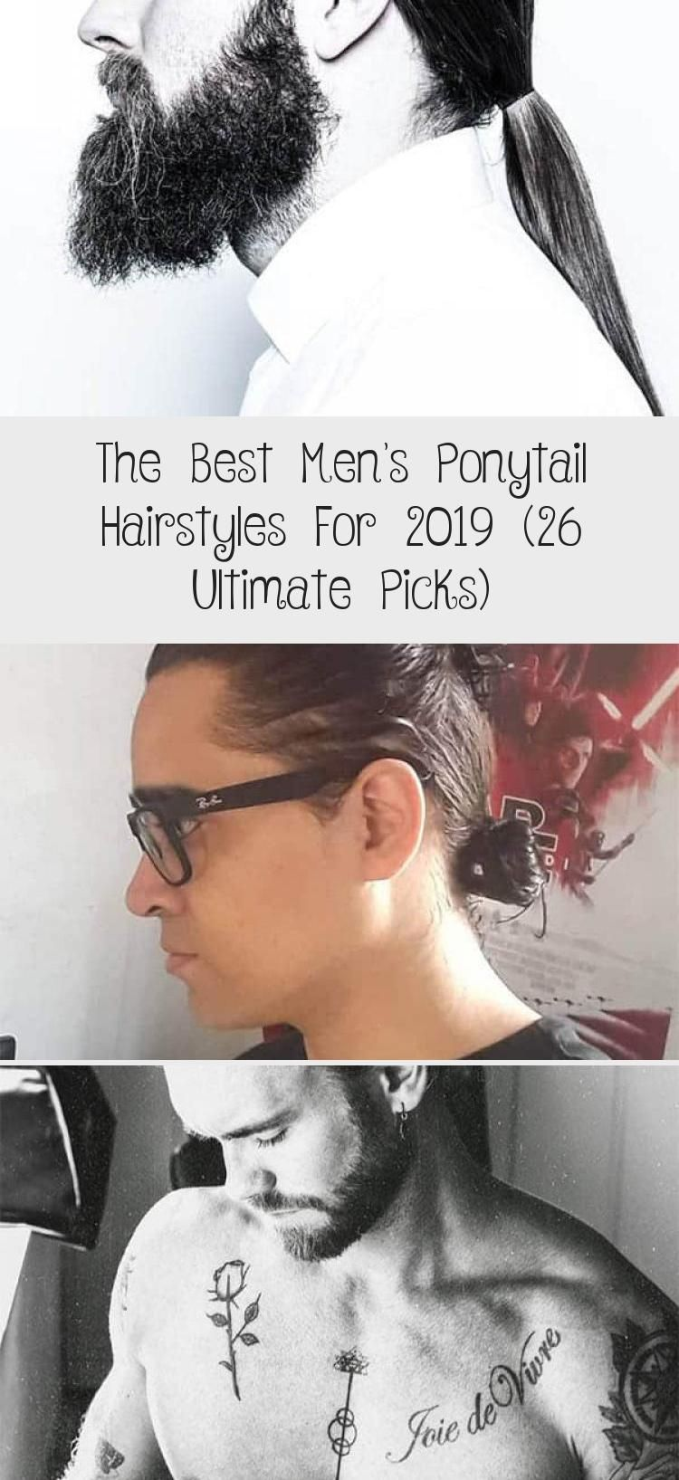 Men's Low Knot Ponytail Best Men's Ponytail Hairstyles