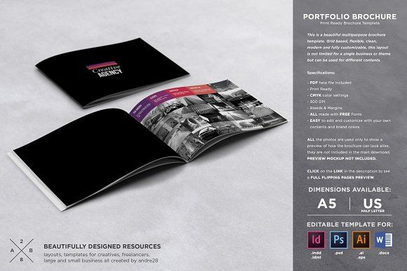 Portfolio Brochure Template by Andre28 on @creativemarket - hotel brochure template