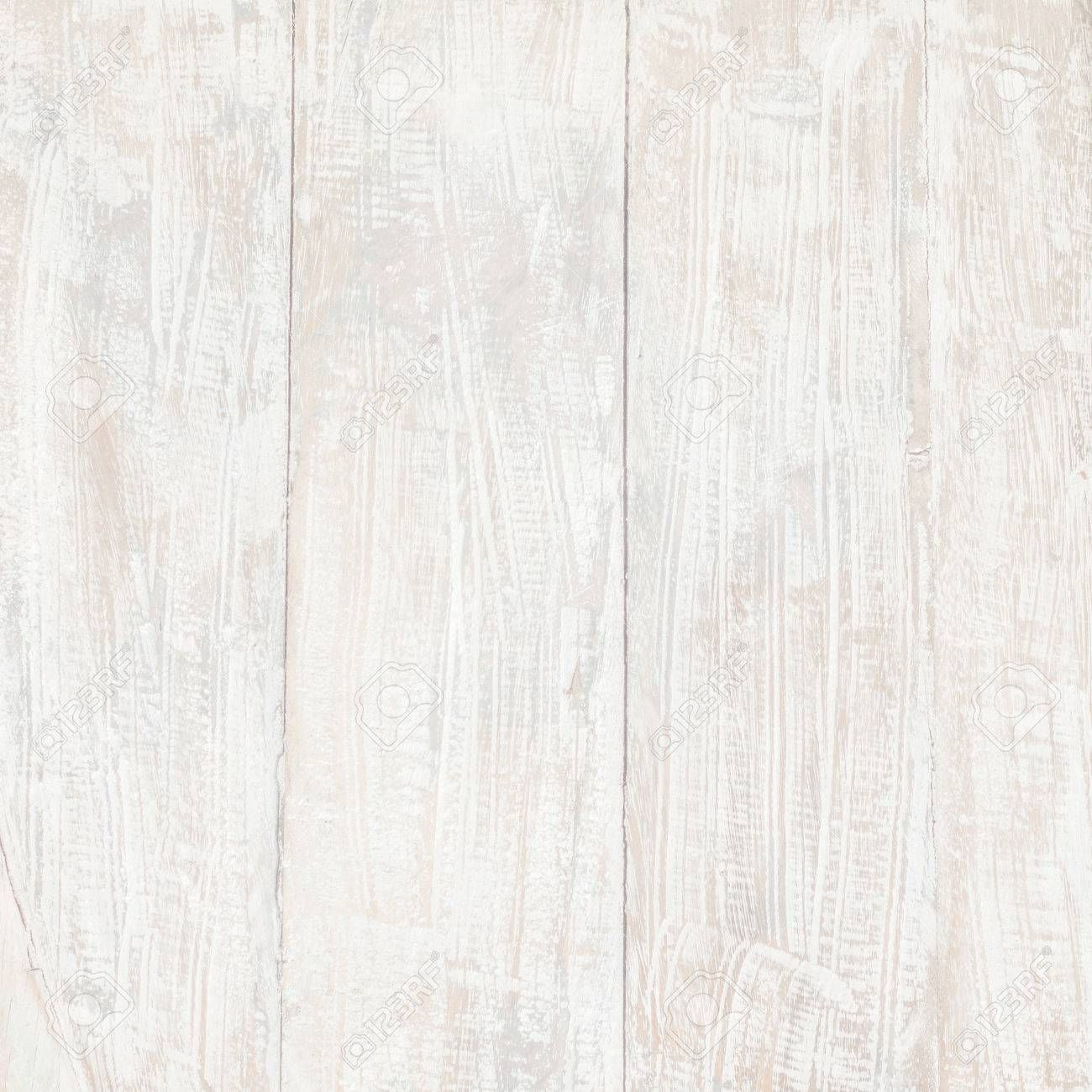 White Wood Table Texture Background Wooden Top View Stock