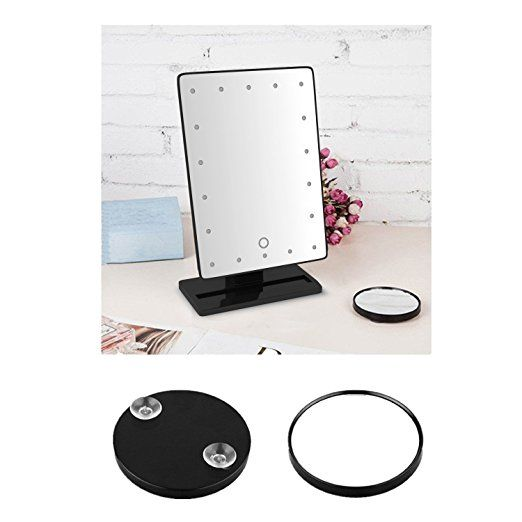 Amazon Com Krasr Touch Screen 20 Led Lighted Makeup Mirror With Removable 10x Magnifying