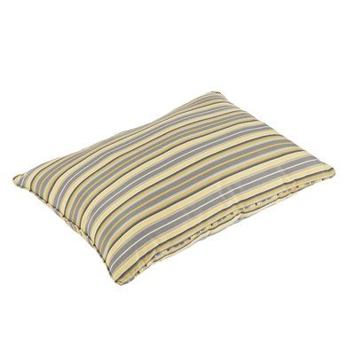Latitude Run Duke Vintage Stripe Piped Indoor/Outdoor Sunbrella Floor Pillow