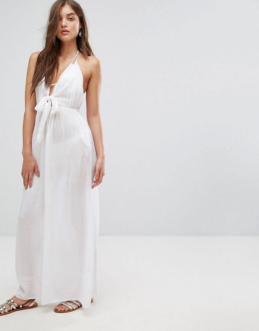 8e7f57ed5f7b DESIGN Woven Tie Front Maxi Beach Dress | Products | Dresses, Beach ...