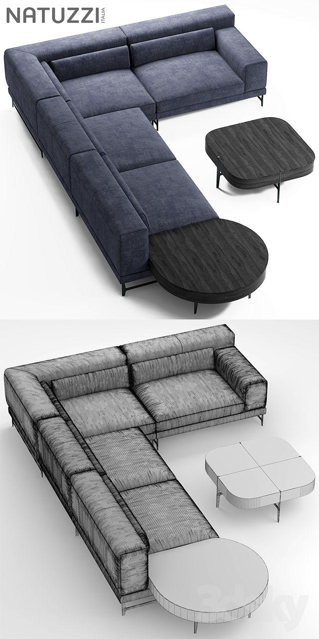 3d Models Sofa Sofa Natuzzi Ido Living Room Sofa Design Curved Sofa Living Room Sofa Set Designs