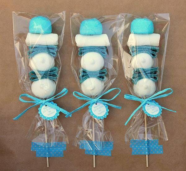 Brocheta de chuches azul empresa de chuches y venta - Chuches para bautizo ...