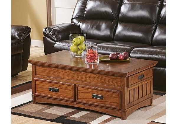 Cross Island Coffee Table With Lift Top Coffee Table Coffee Table With Storage At Home Furniture Store