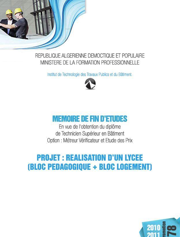 Exemple Mémoire technicien spécialisé : Métré Et Etude De ...