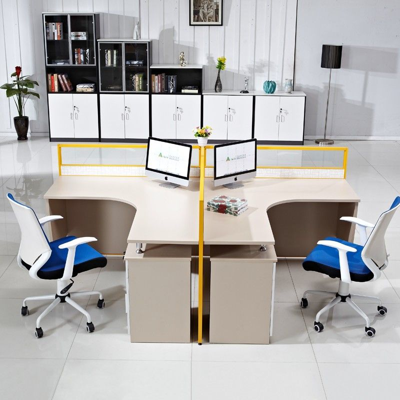Cheap Price Factory Direct Acrylic Panel 2 Seater Office
