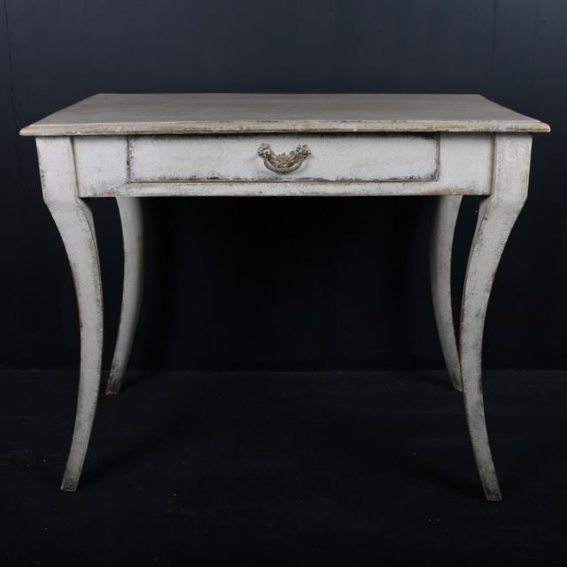 unusual side table-unusual 19th c swedish painted side table. 1820