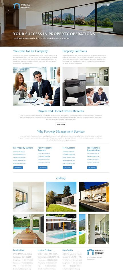 property management consulting website template themes business