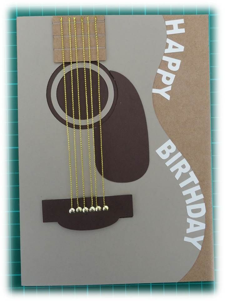 Image result for handmade birthday card for teenage boys stampinup guitar card for boys birthday guitar image found on cricut design space bookmarktalkfo Choice Image