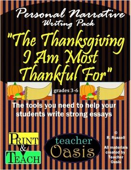 personal narrative essay the thanksgiving i am most thankful for