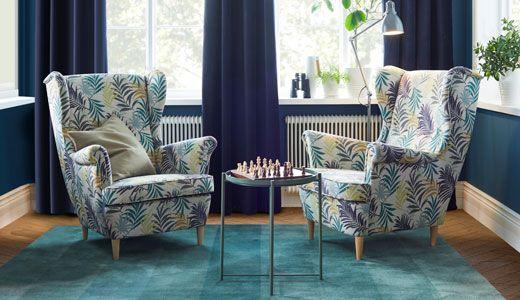 ohrensessel strandmon bezug gillhov mehrfarbig salon. Black Bedroom Furniture Sets. Home Design Ideas