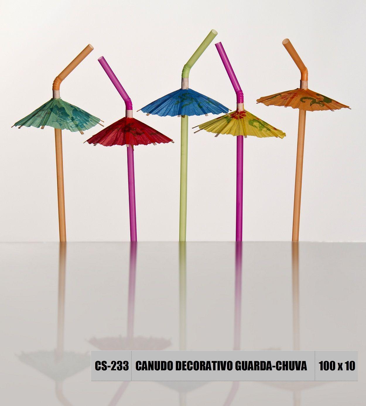 Canudo decorativo guarda-chuva Strawplast
