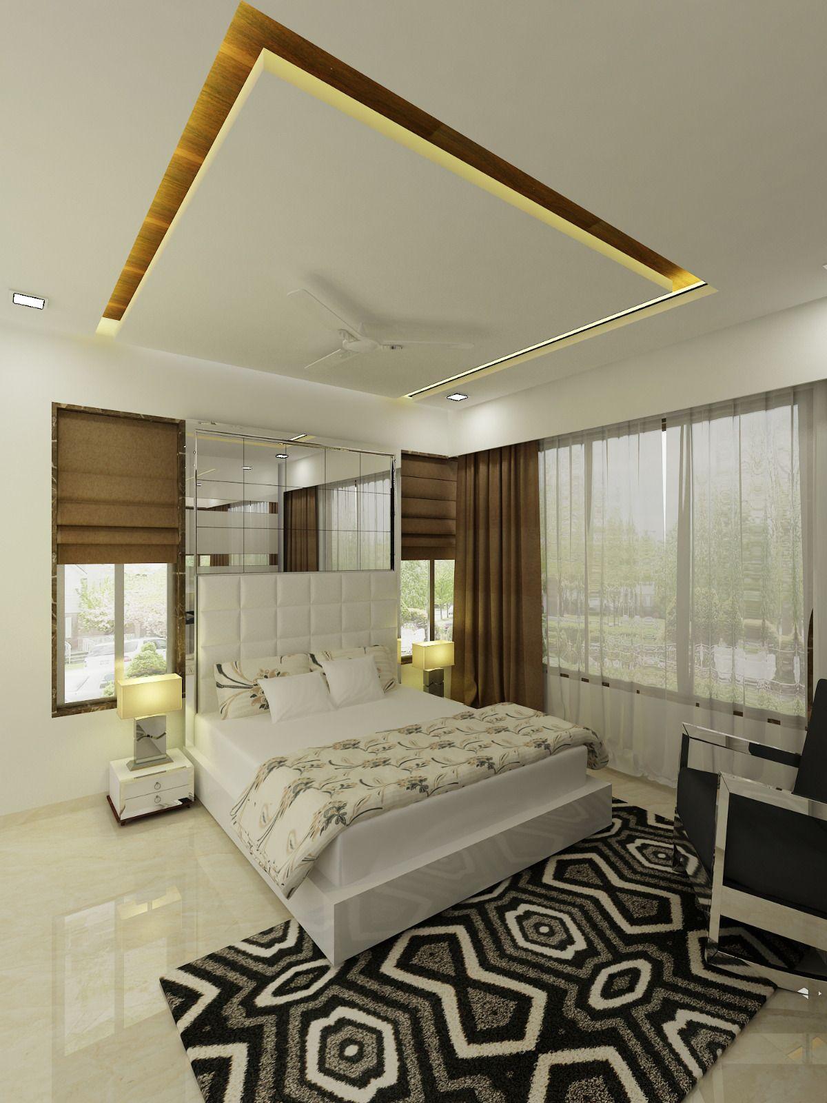 LUXURIOUS MASTER BEDROOM | Bedroom false ceiling design ...
