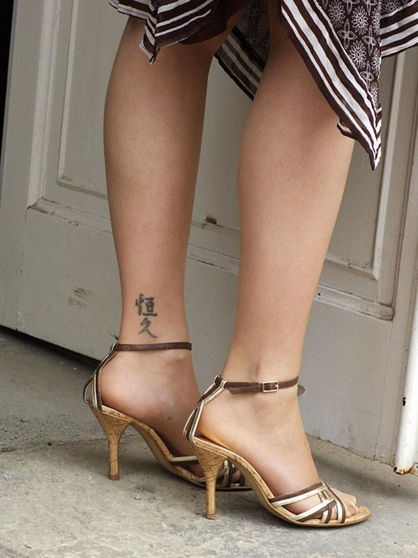 Asian Script Ankle Tattoo Cute Ankle Tattoos Ankle Tattoo Designs Ankle Tattoos