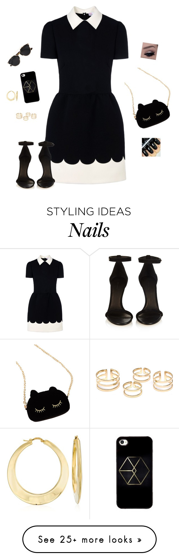 """""""Couture Cutie ~ Question! (Description)"""" by hanakdudley on Polyvore featuring RED Valentino, Isabel Marant, WithChic, Christian Dior, Ross-Simons, women's clothing, women's fashion, women, female and woman"""